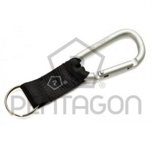 CARABINER WITH STRAP 8MM