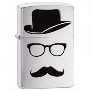 Zippo Moustache and Hat and Glasses 28648