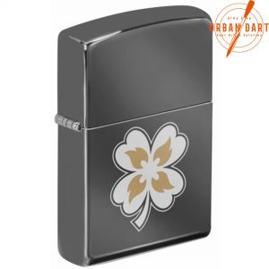 ZIPPO CLOVER WITH FLAMES